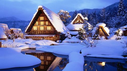 The UNESCO has declared Shirakawa, Japan as the World Heritage Site for the traditional architecture of its houses. The thatched roof structures prevent collapse during heavy snowfalls. It's a site worth visiting during winters!!