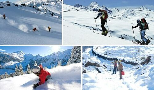 Snow Sports In Winter