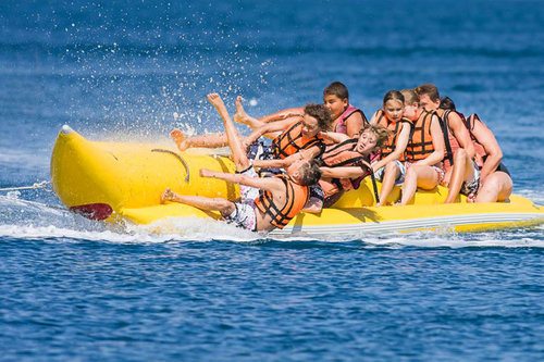 Banana Tube Boat Ride